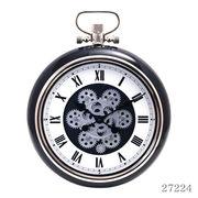 掛け時計 ギア Mサイズ Φ40cm ブラック