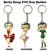 BETTY BOOP PVC KEY HOLDER 【ベティブープ PVC キーホルダー】【3種チョイス】