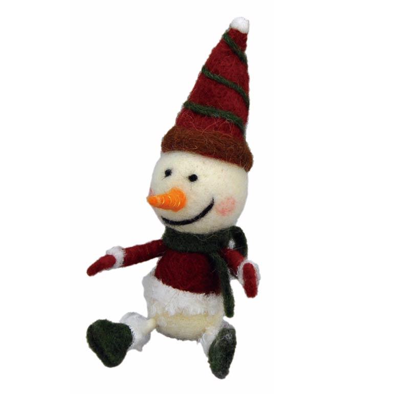 [掛率ダウン!]<AMANO>【クリスマス】【ウールマスコット】ウールシッティング・スノーマン