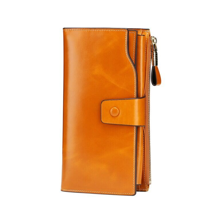 6a288fef63fe 本革財布 カード収納 長財布 オイルレザー レディース メンズ 男女兼用 サイフ ウォレット 革 レザー