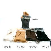 【手袋】【婦人用】あったか指なしハーフ型グローブ