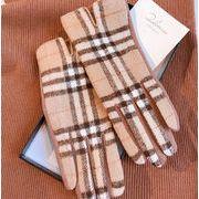 秋冬新品 レディースファッション 手袋 グローブ オシャレ 防寒 格紋
