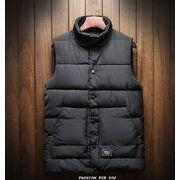 秋冬新作メンズチョッキ トップス シンプル おしゃれ♪ホワイト/レッド/ブラック3色
