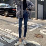 韓国 スタイル ファッション レディース 韓国風 着痩せ効果抜群 デニム パンツ ジーンズ