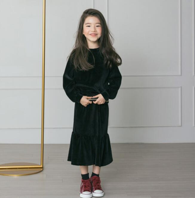 セットアップ 秋冬 子供服 女の子 2点セット パーカー+スカート カジュアル系 部屋着