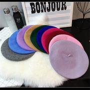 2018 秋 冬 韓国 スタイル ファッション小物 コーディネート カラー豊富 編み織 帽子 全18色