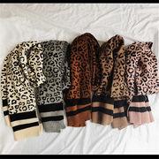 韓国 スタイル レディース ファッション小物 コーディネート ヒヨウ柄 編み織 ストール