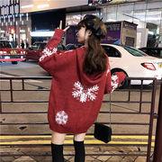 秋冬新商品730383 大きいサイズ 韓国 レディース ファッション  セーター パーカー  3L 4L 5L