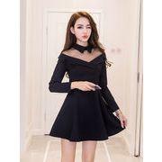 2018新品 大人気   韓国ファッション  CHIC気質  縫付  ワンビース