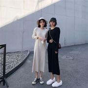 Fashions 限定発売  韓国ファッション  CHIC気質  ラウンドネック  怠惰な風  ワンビース