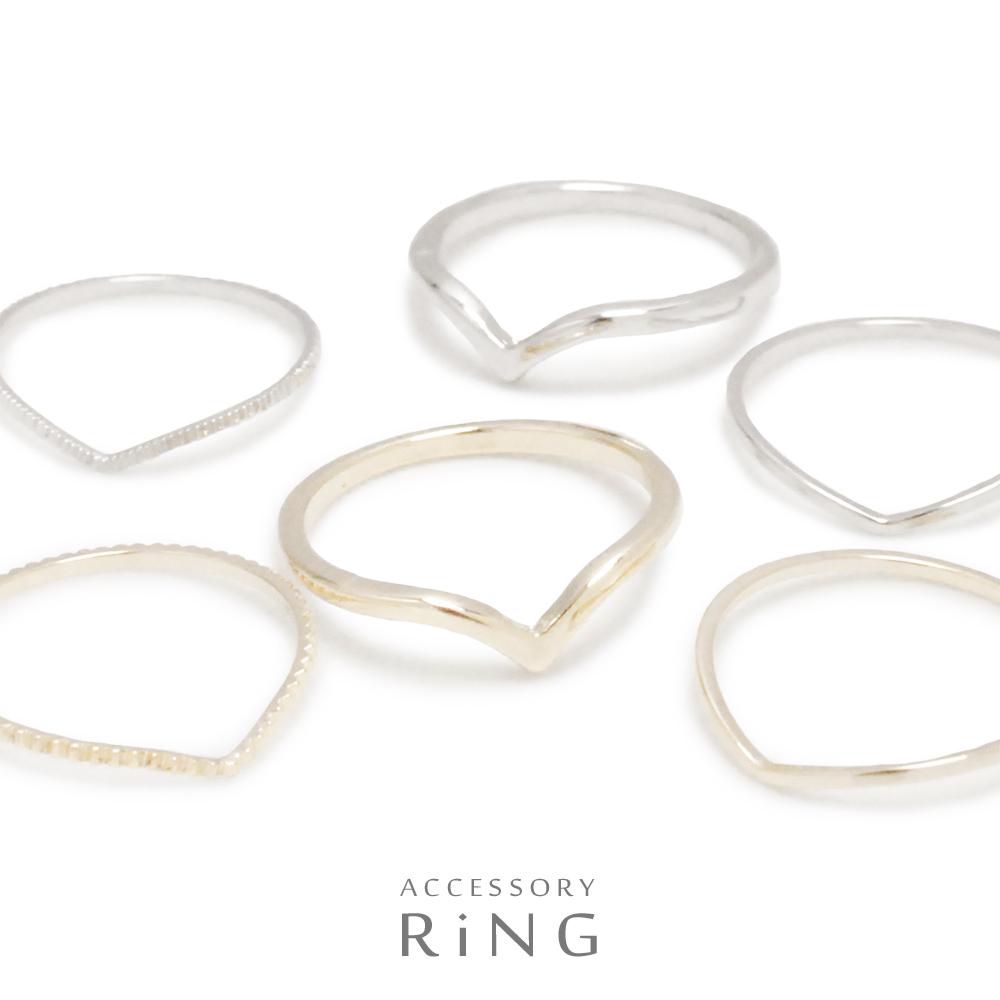 ▼MAGGIO▼ V字スリムリング(指輪)【美しい曲線美】さり気なくお洒落を楽しむ♪