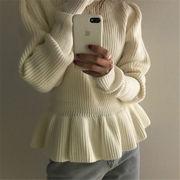韓国 スタイル 秋 冬 ファッション 心地良い 着痩せ効果抜群 ニット 編み織 セーター