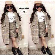 ★新品★キッズファッション★キッズ服★コート+スカート  セットアップ