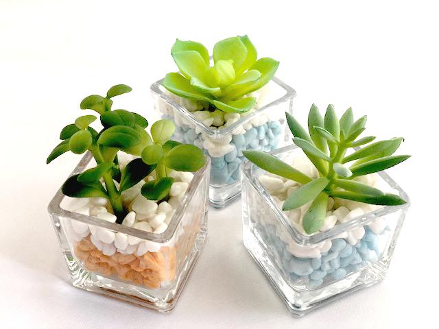 プラクス(造花) 多肉植物 アソート6種 箱/ケース売 30入