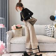 韓国 スタイル ファッション 秋 冬 激安 カジュアル 着まわしやすい 長ズボン