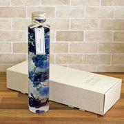 ハーバリウム丸瓶(円柱)ブルー 化粧箱付き