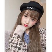 秋冬新発売 韓国風 ベレー帽 レディース 帽子 八角帽子