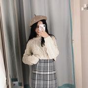 秋冬新発売 韓国風 ベレー帽 レディース ウール毛 帽子
