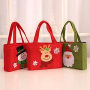 クリスマス ギフトバッグ ラッピング サンタクロース トナカイ フェルト プレゼント 手提げバッグ
