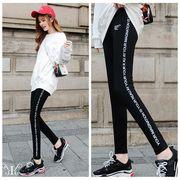 メール便730354】大きいサイズ 韓国 ファッション ジーパン レギンス パンツ 英字プリント 3L 4L