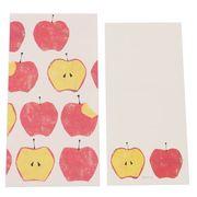 【ポチ袋】Tomoko Hayashi メッセージカード付き ポチ袋 3枚セット/旬果 アップル
