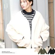 【2018秋冬新作】ボアリバーシブルショートジャケット/アウター