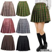 チェック柄 プリーツスカート オリジナル制服 コスプレ S M Lサイズ カラー6色