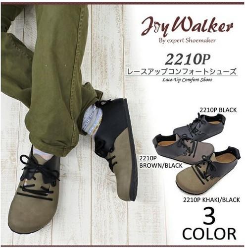 【joy walker】メンズサイズ レースアップ ソフト フットベッド 3色