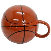【マグカップ】/ふた付きマグ/バスケットボール