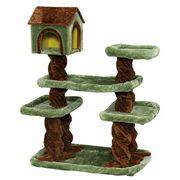 【店舗展示品】【猫 ペット】【キャットタワー・猫タワー】キャットランドグリーン CLF-7 森のハウス