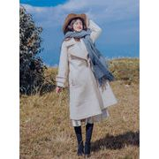 Fashions、2019新品 韓国ファッション  ヴィンテージ  手作り刺繍  ヘップバーン風  膝上  ウールコート