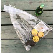 バッグ 透明バッグ スケルトン エコバッグ 日韓 英字プリント ロゴ トートバッグ