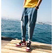 初春新作メンズジーンズ ズボン大きいサイズ おしゃれ♪ブラック/ブルー/ライトブルー3色