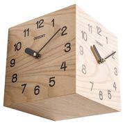 天然木三面時計