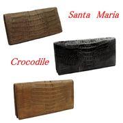 Santa Maria サンタマリア製 クロコダイル 長財布 カイマン 背鰐マット102T