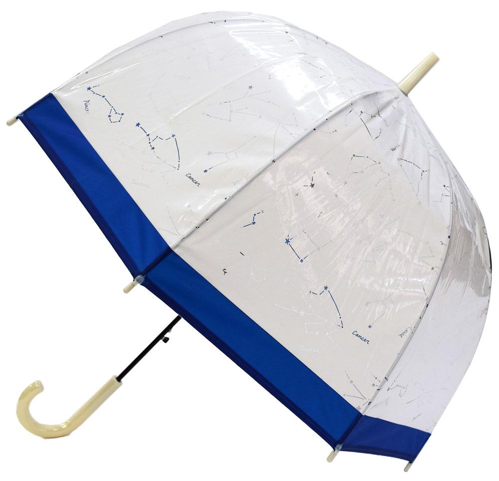 レディースビニール傘 【星座  WH】 60cm
