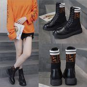 2019秋新作 靴 ブーツ シンプル マーティンブーツ ソックス ファッション欧米 ショートブーツ