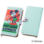 【Disney】スマホケースマルチタイプ レトロポスターアート ミッキーマウス