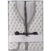ジャカード織衿付きアクリルベスト グレー WAB-501