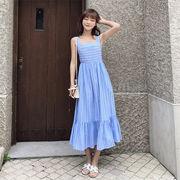 春に入る前の準備  女性美up↑ 韓国ファッション  ボヘミアンオープンバックレースドレス  ビーチスカート