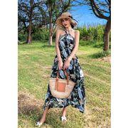 春に入る前の準備 2019大人気新作 韓国ファッション 夏  新着  スリム  ドレス  休暇ビーチスカート