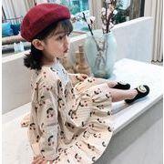 春  子供 ワンピース 女の子 ファッション カジュアル チェーり 2色