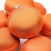 持ち運びに便利♪マカロン型ユーズフルケース(メッシュオレンジ)  品番: 10657
