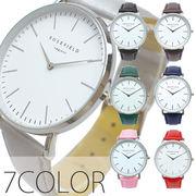 シンプルデザインなホワイトの文字盤にシルバーメモリと2針がマッチ AV046 レディース腕時計