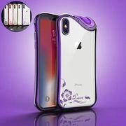 iPhoneX iPhone8 iPhone7 6s スマホケース カバー アイフォン おしゃれ ラインストーン