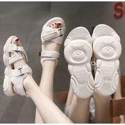 2019新作サンダル シューズ 靴 可愛い 熊 韓国 ファッション フラット
