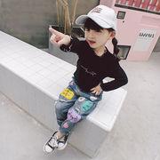 格安!ダメージデニムズボン★男女兼用★キッズ★ジーンズ★ジーパン★韓国子供服★パンツ★7-15選択可