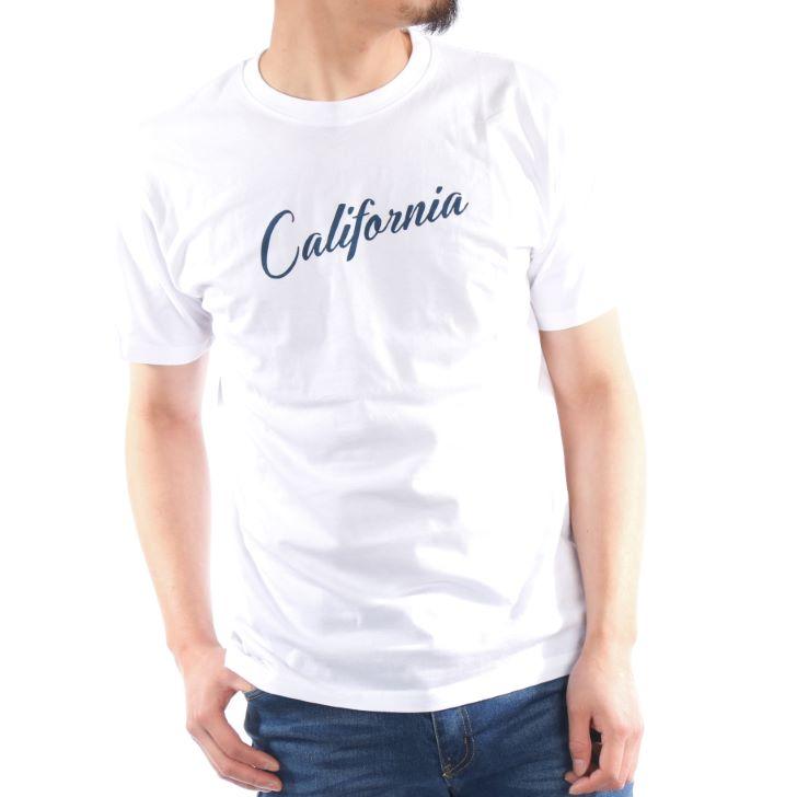【2019春夏新作】 半袖Tシャツ メンズ クルーネック プリント 筆記ロゴ ロゴプリント 春 夏