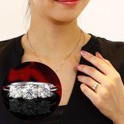 【ロシア産】天然ダイヤモンド 計1.151ct VS2/Lカラー/EXCELLENTスリーストーンリング