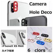 定形外 iPhone 7 8P X XR XS MAX アクセサリー カメラ デコ 保護 Camera Hole Deco シール 純正品質